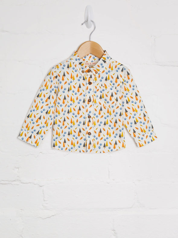 Woven Woodland Print Shirt - cool baby clothes by lucy & sam