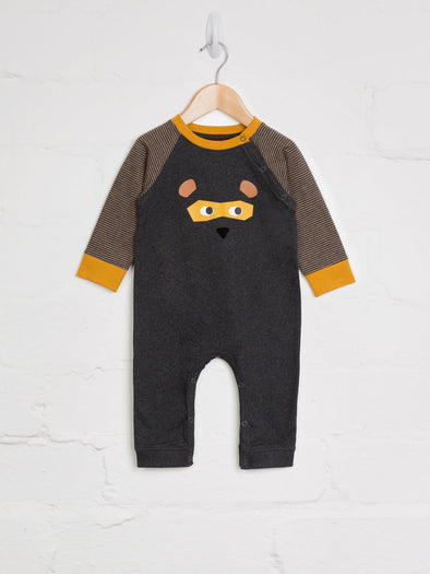 Bear Mask Romper - cool baby clothes by lucy & sam