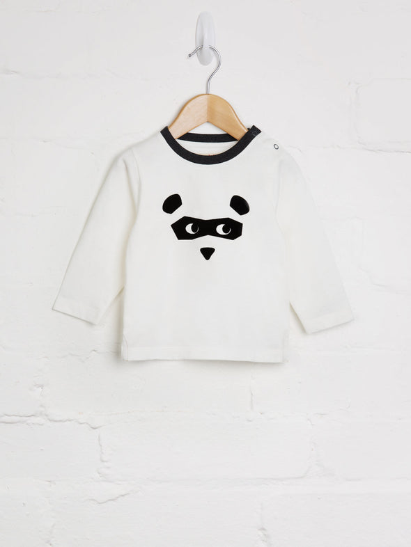 Bear Mask Tee - cool baby clothes by lucy & sam