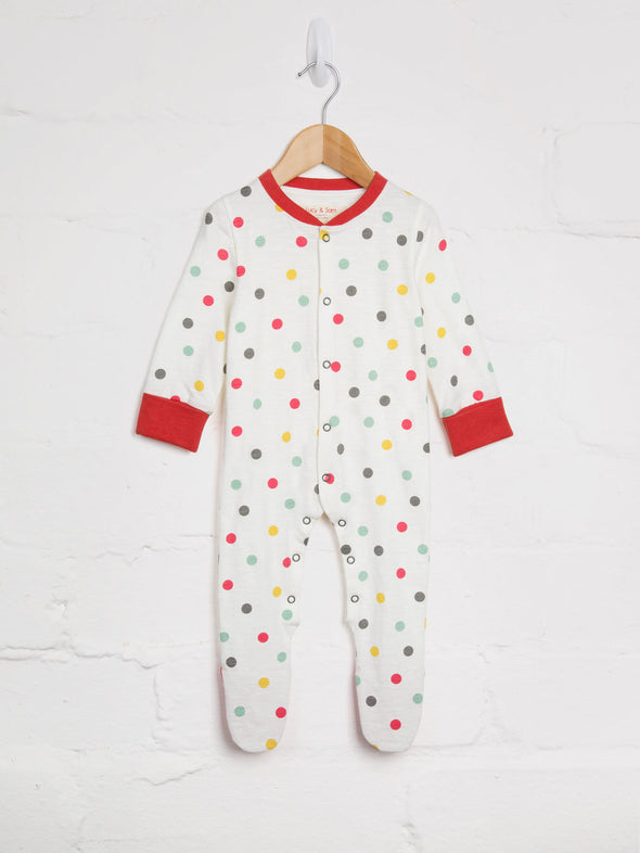 Spot Print Babygrow - cool baby clothes by lucy & sam