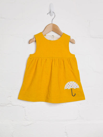 Yellow Cord Pinny Dress - cool baby clothes by lucy & sam