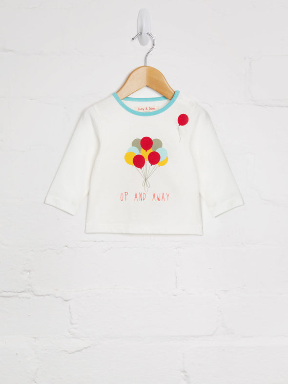 Up & Away T-shirt - cool baby clothes by lucy & sam