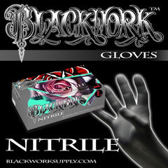 Blackwork Nitrile Glove