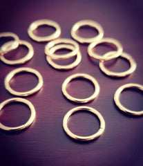 14kt Solid Yellow Gold Seam Rings