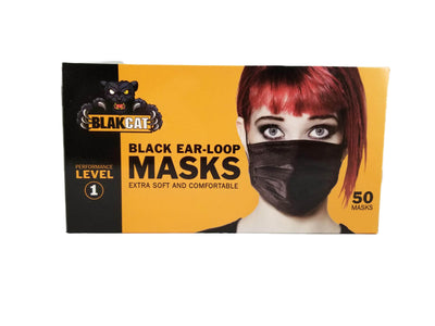 BlakCat Premium Black Face Masks