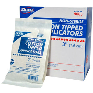 "Non Sterile 3"" Cotton Tipped Applicator"