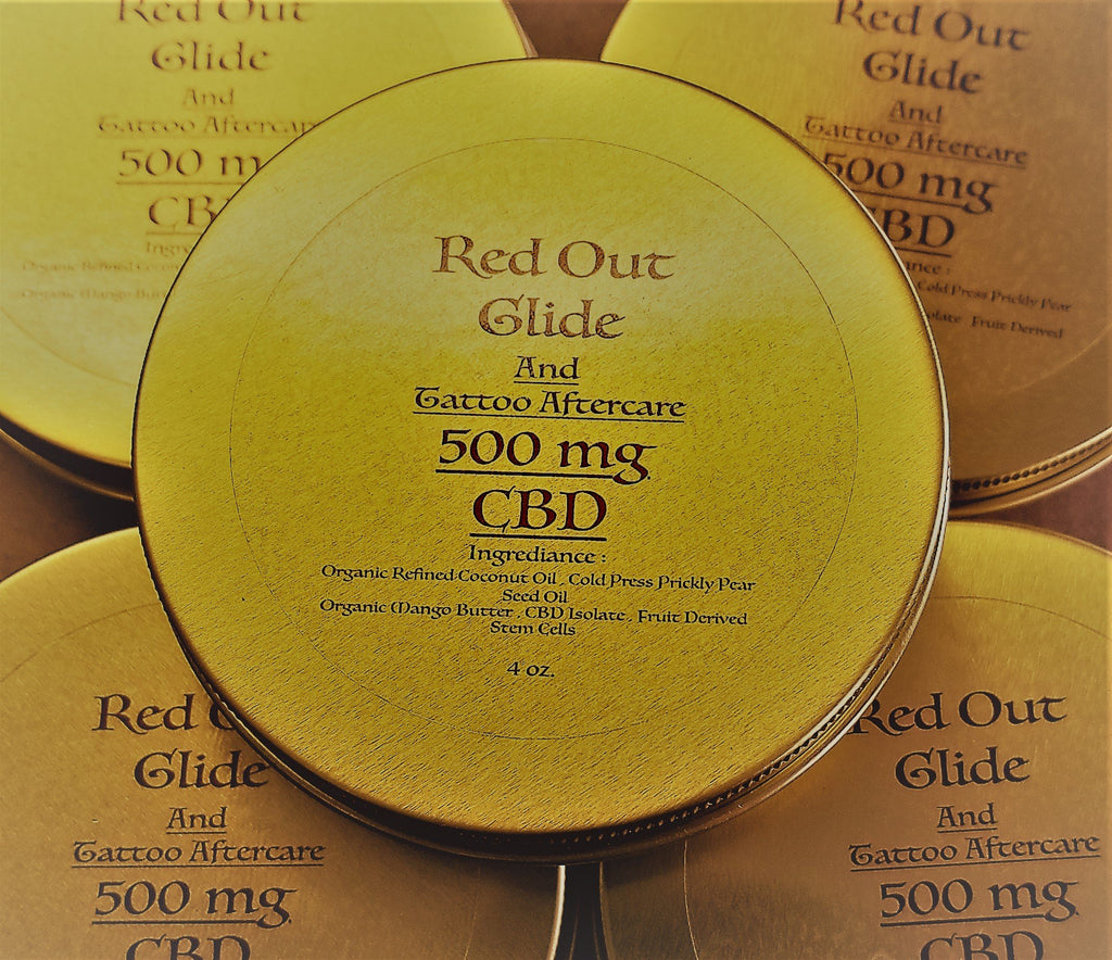 Red Out Glide & Aftercare - 500 mg CBD - 4 oz