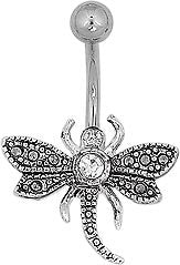Navel - Gem Crusted DragonFly