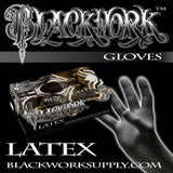 Blackwork Latex Gloves
