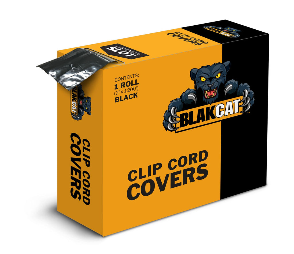 Blak Cat Clip Cord Cover - 1200' Roll