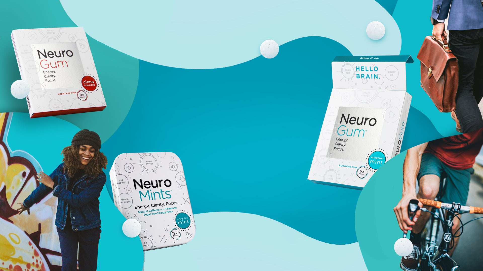 Functional gum and mints engineered to energize and focus your mind.