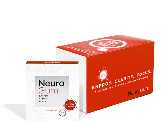 NeuroGum | Smart Energy Gum - Nootropic Caffeine + L-theanine Energy Gum