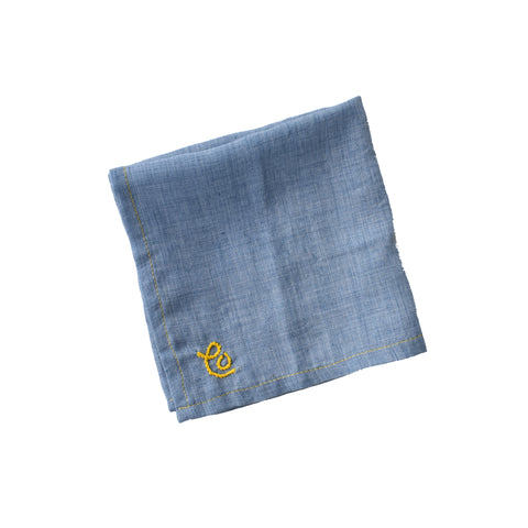"Chambray ""CO"" Pocket Square"