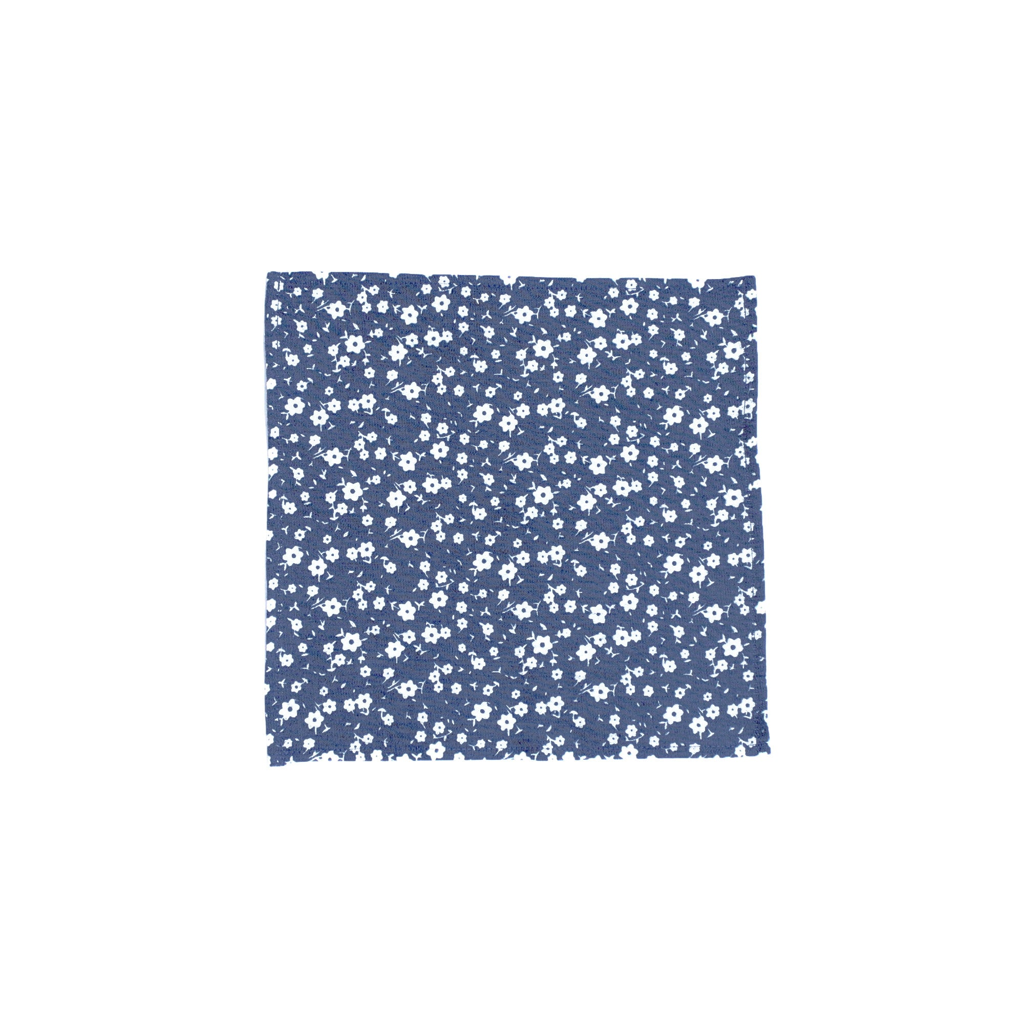 Indigo Floral Pocket Square - Clyde Oak Brand - 1