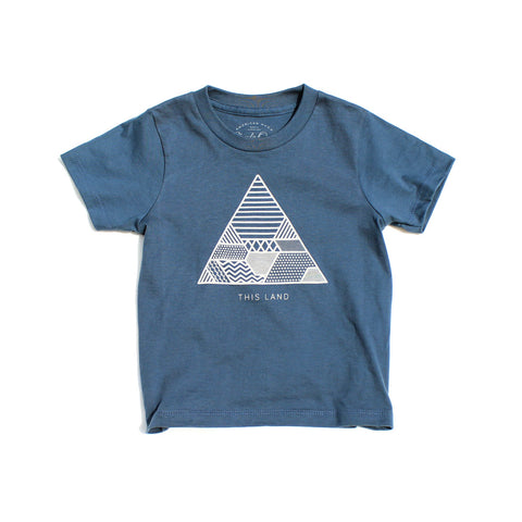 Kids Soil Tee | Pacific - Clyde Oak Brand - 1