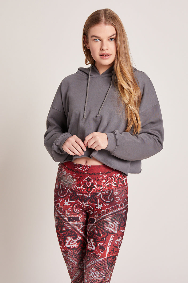 Leaucadia Cropped Hoodie - Carbon