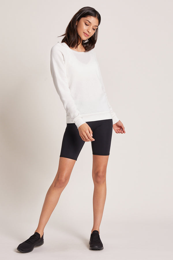 Monterey Crew Neck Sweatshirt - White