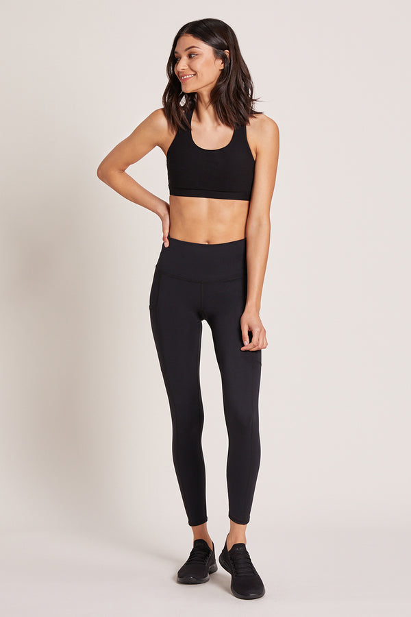 Wander High Waisted Pocket Legging - Black