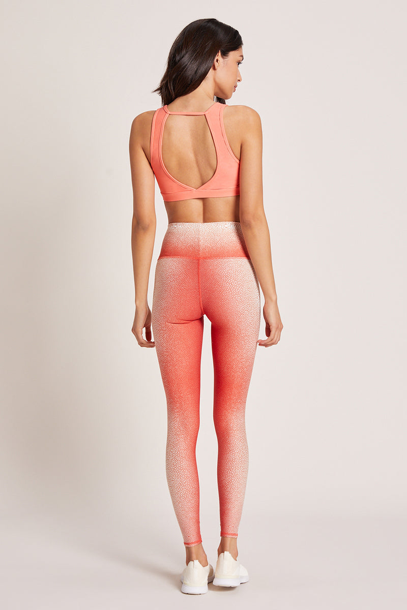 Shagreen High Waisted Legging - Coral