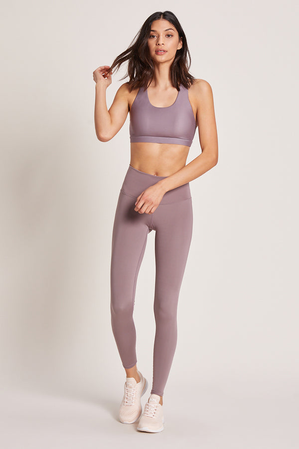 Barefoot High Waisted Legging - Lavender Latte