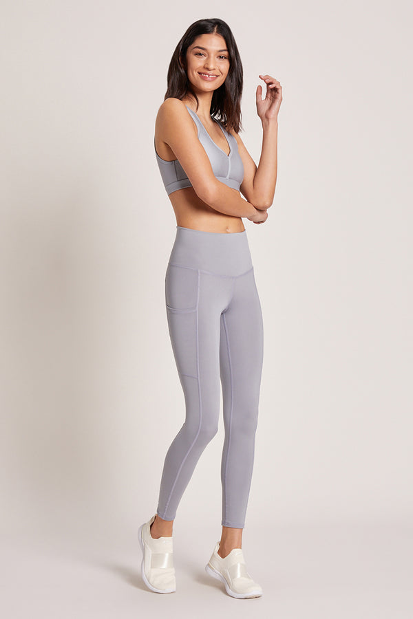 Wander High Waisted Pocket Legging - Platinum