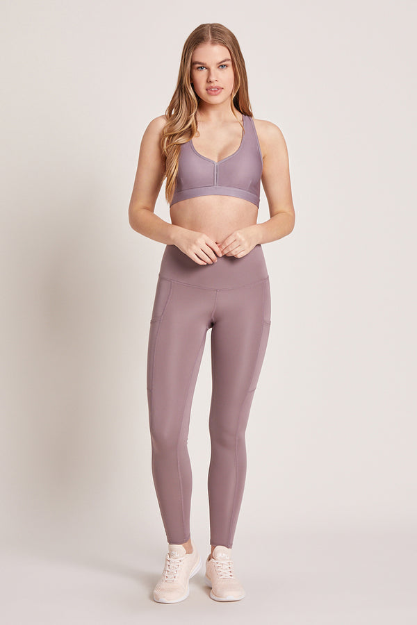 Wander High Waisted Pocket Legging - Lavender Latte