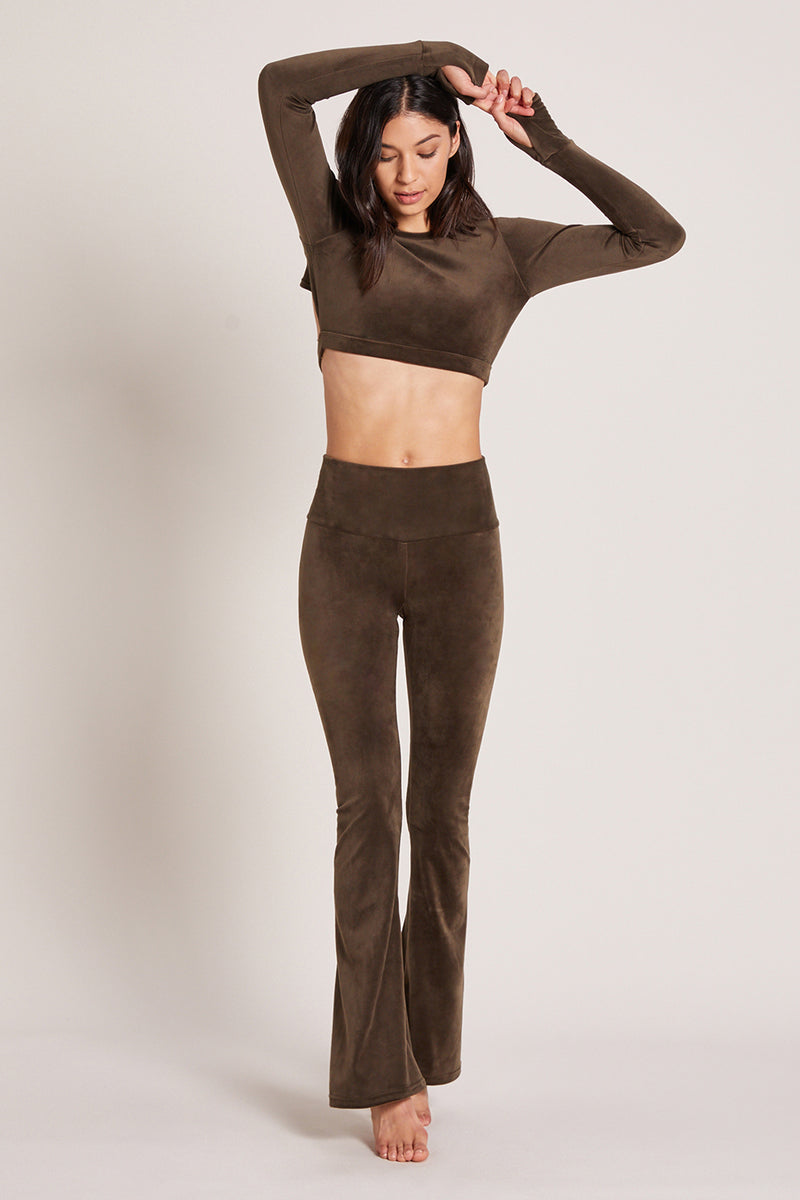 Velour Flare Pant