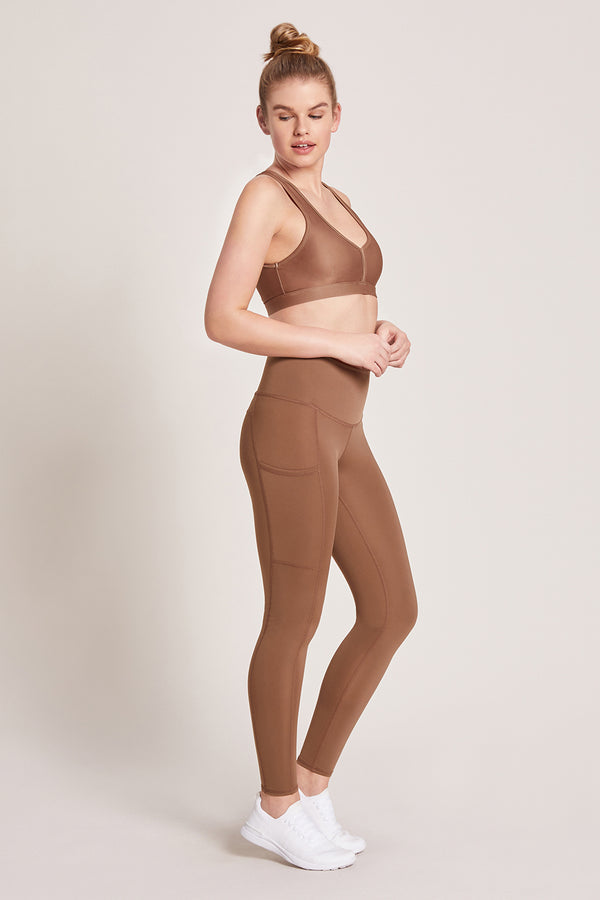 Wander High Waisted Pocket Legging - Nutmeg