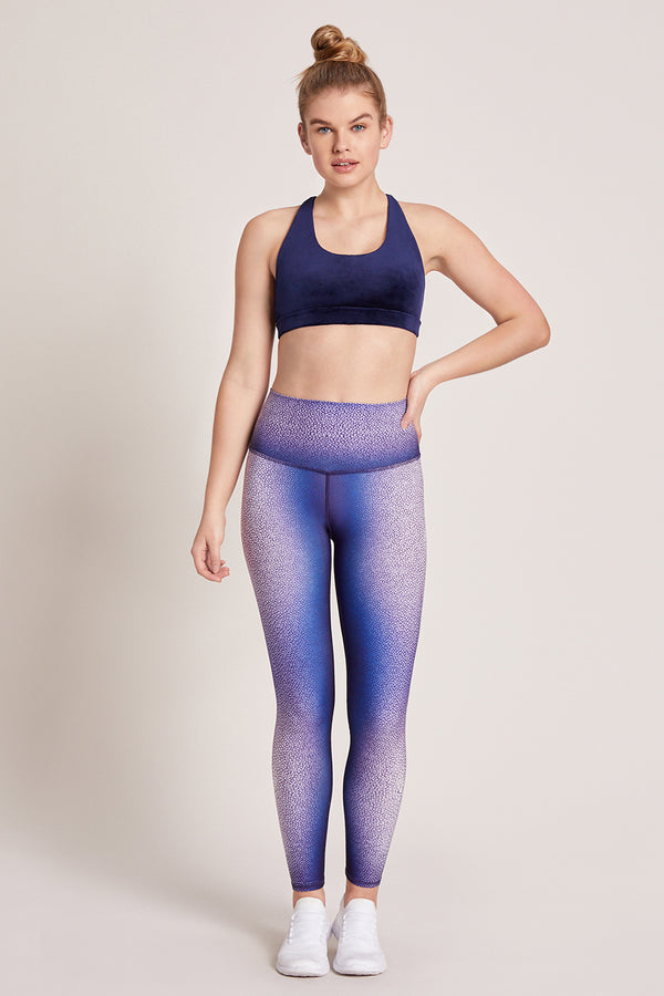 Shagreen High Waisted Legging - Midnight
