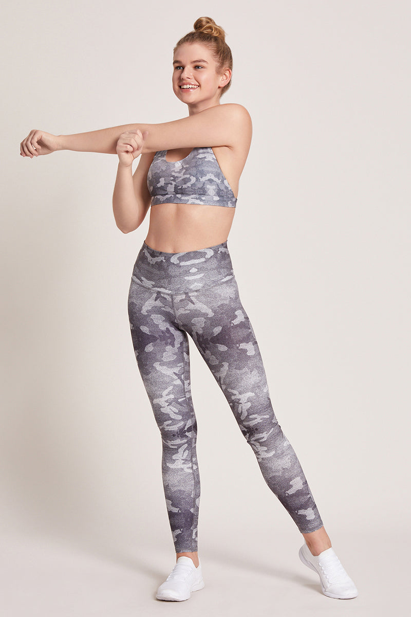 Camo High Waisted Legging - Mist