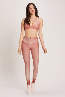 Dip Dye High Waisted Legging - Cactus Rose