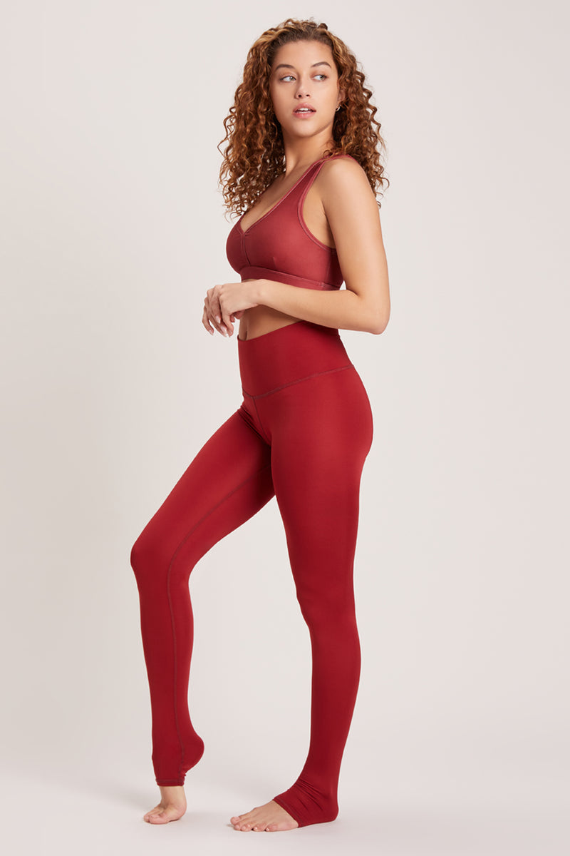 Endless High Waisted Legging - Vivid Cabernet