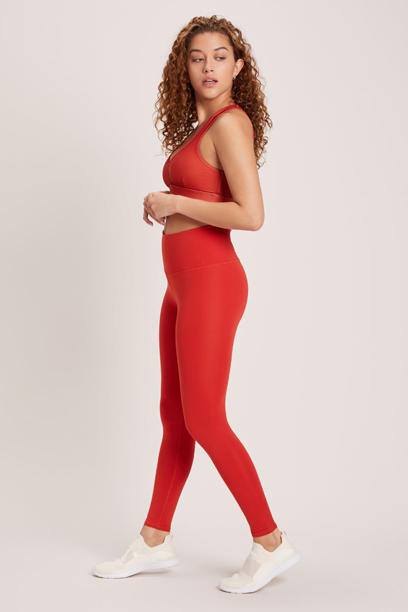 Barefoot High Waisted Legging - Vivid Chili