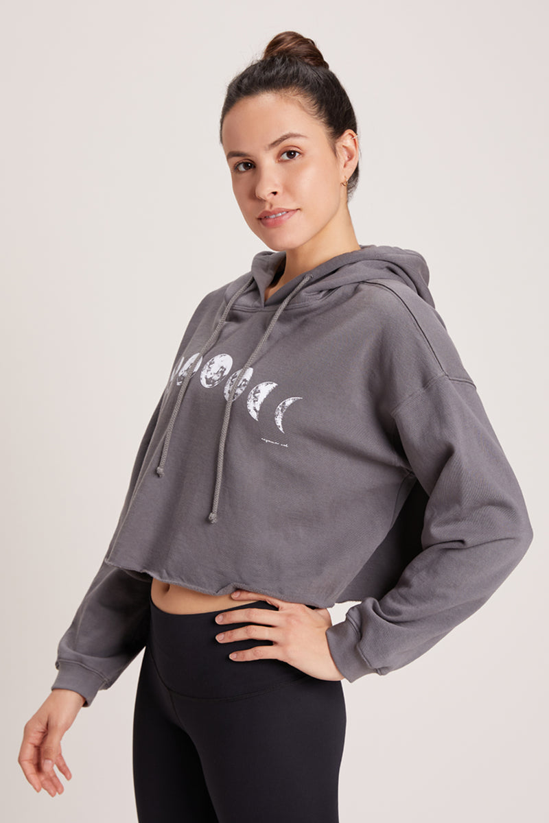 Moon Phase Leucadia Cropped Hoodie