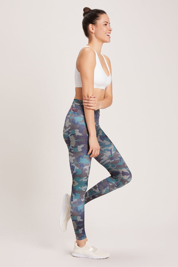 Camo High Waisted Legging - Fatigue