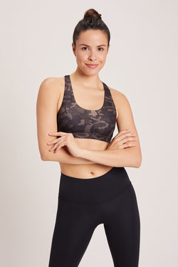 Camo Dream Catcher Sports Bra - Latte