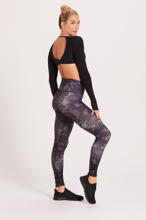 Camo Barefoot Legging - Midnight