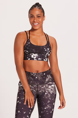 Tie Dye Diamondback Sports Bra - Moon Dust