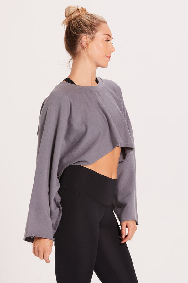 Cropped Sweatshirt - Cement