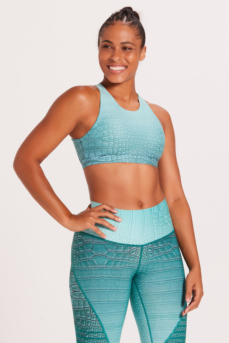 Croc Mudra Sports Bra - High Tide