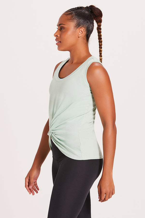 Knotted Tank Top - Mint