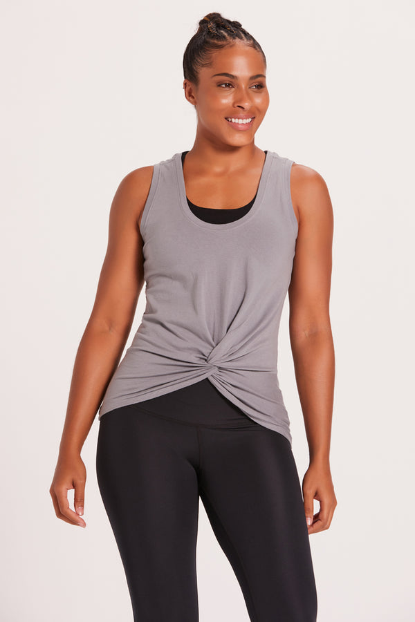 Knotted Tank Top - Cement