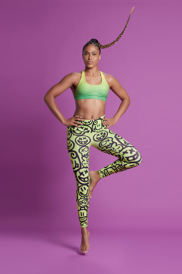 Happy Barefoot Legging - Lime