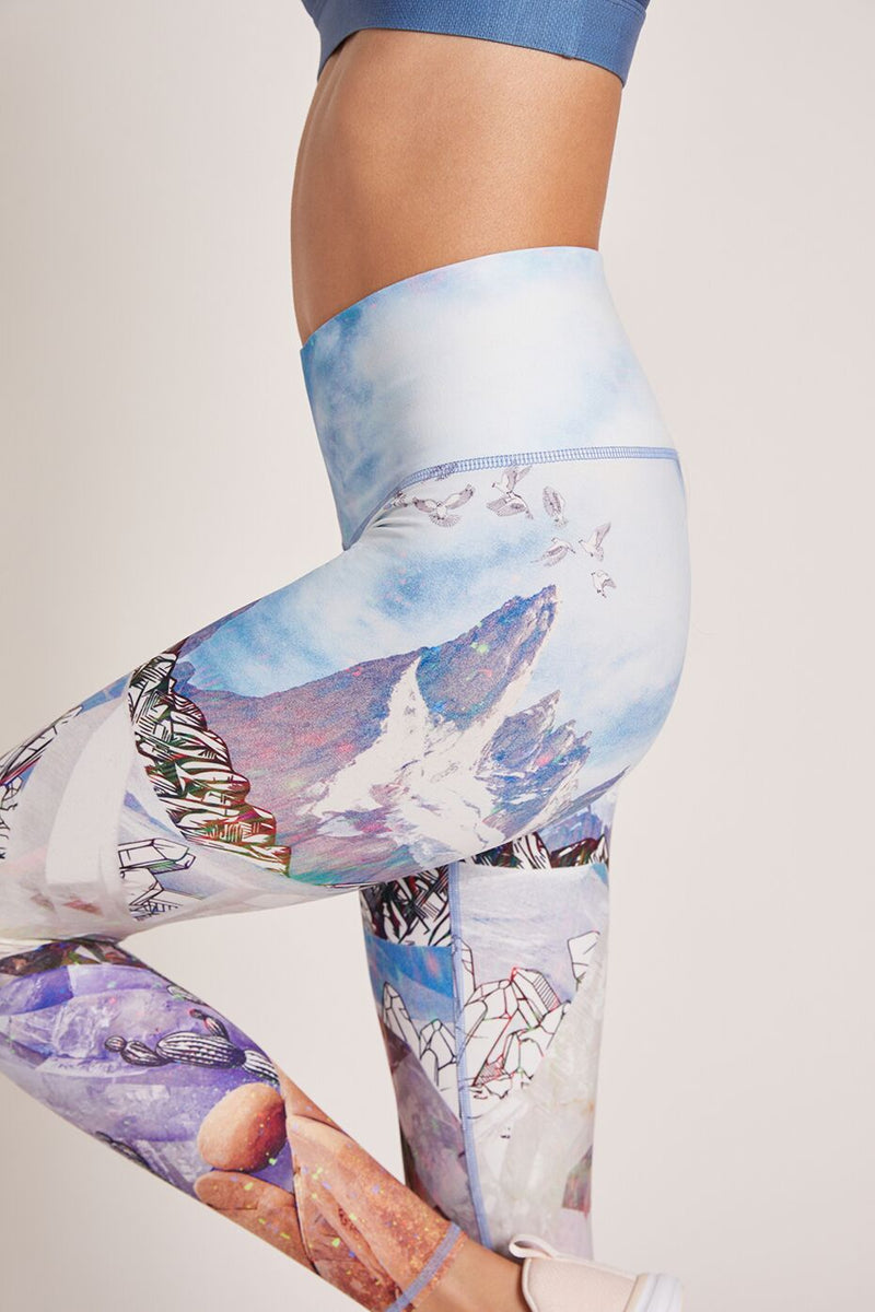 Crystal Mountains High Waisted Legging