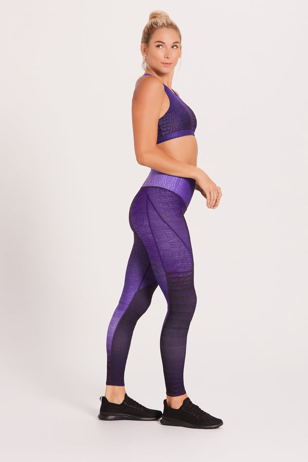 Croc High Waisted Slice Legging - Royal