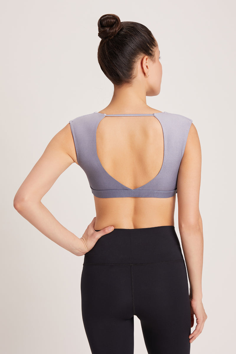 Knotty Sports Bra - Grey