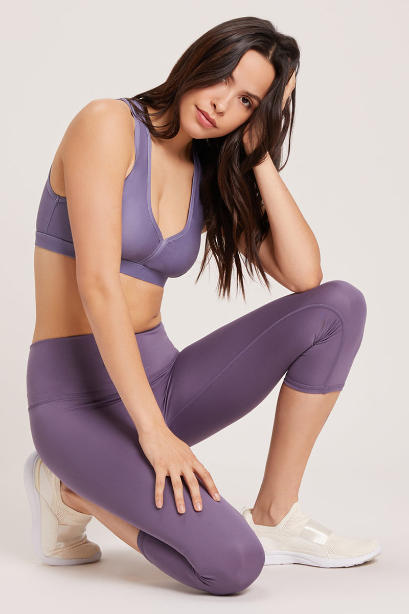Beachcomber High Waisted Crop - Vivid Amethyst