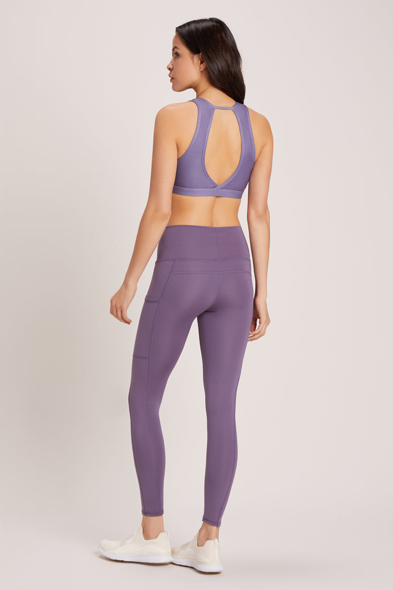 Wander High Waisted Pocket Legging - Vivid Amethyst