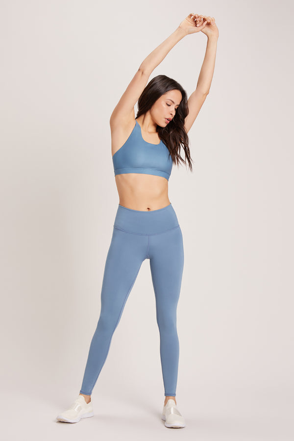 Barefoot High Waisted Legging - Vivid Celestite