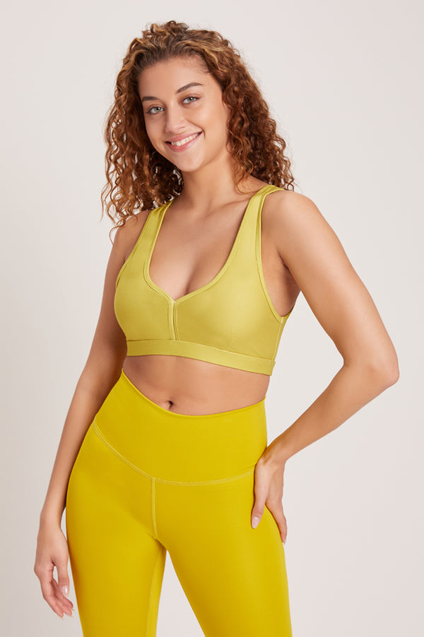 Eclipse Medium Support Sports Bra - Chartreuse